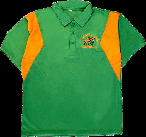 14 Orange And Green Custom Polo