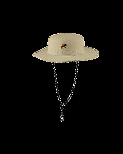 95 Embroidered Wide-Brim Hat