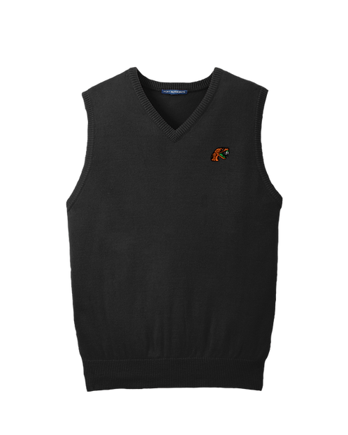 80 Embroidered V-Neck Sweater Vest