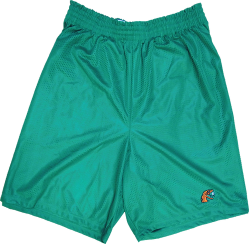 63 Tri-Cot Mesh Athletic Embroidered Shorts
