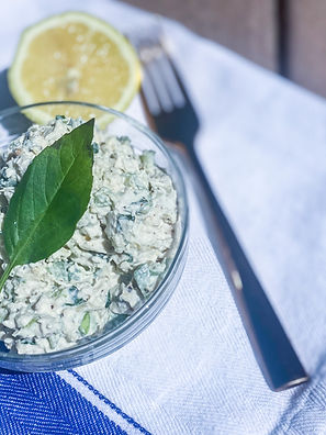 Spring Forward Lemony-Basil & Jalapeño Chicken Salad
