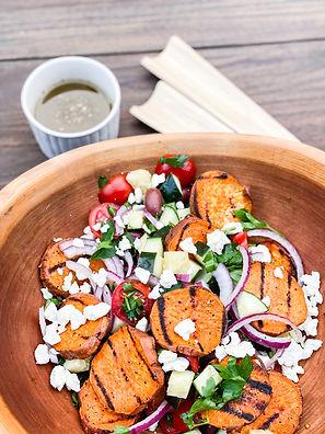 Sweet Potato Greek Salad