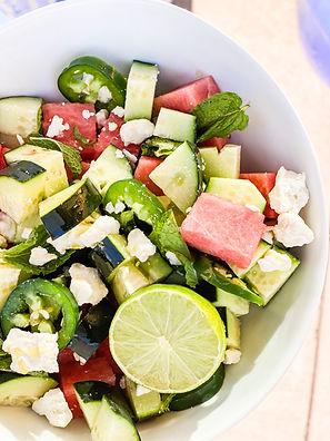 Spicy Cucumber, Watermelon & Mint Salad