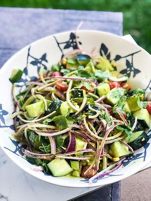 Springtime Cucumber-Lime Avocado Corn Salad
