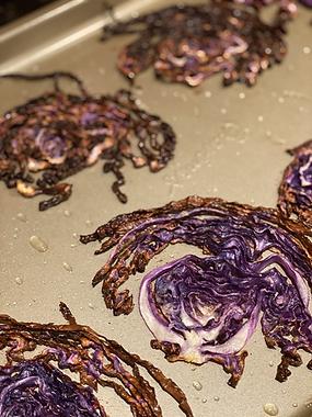 Simple Roasted Purple Cabbage