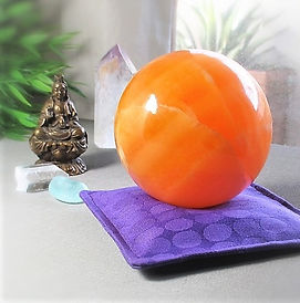 Crystal Pillow Orange Calcite Sphere_edi