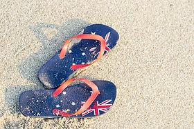 Aussie thongs on the beach .jpg