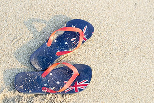 Aussie thongs on the beach .jpg