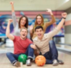 Emotional young people in bowling_edited