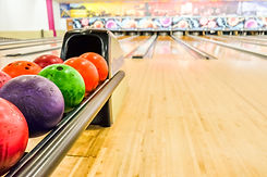Bowling equipment. Close up of bowling s
