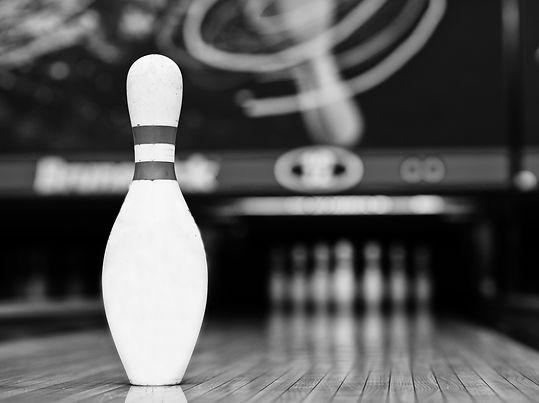 One bowling pin background bowling lane_