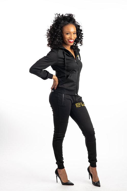 Keep It Chic Sweat-Suit Black