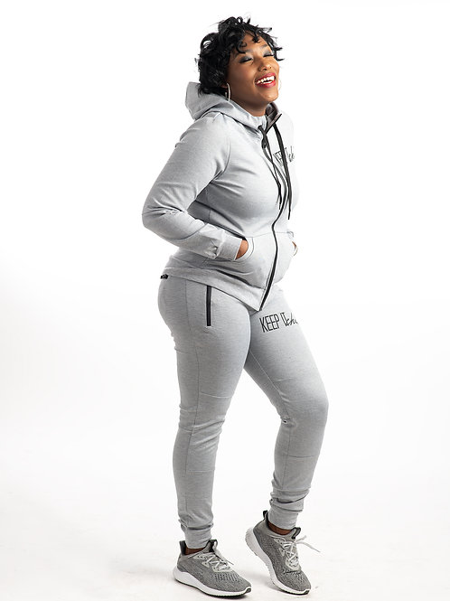 Keep It Chic Sweat-Suit Grey