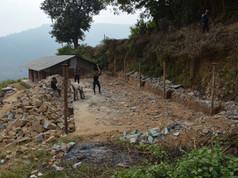 Demolishing the lower building