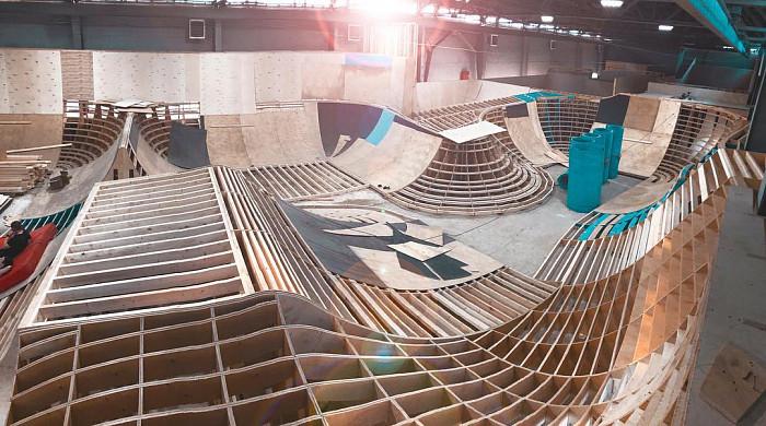 Строительство крытого скейтпарка в Москве