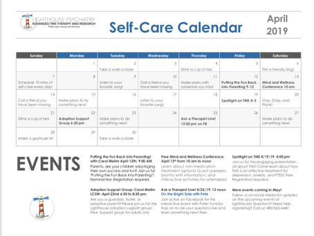 April Self-Care Calendar!