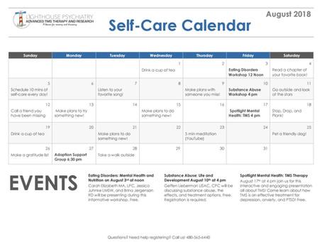 August Self-Care Calendar!
