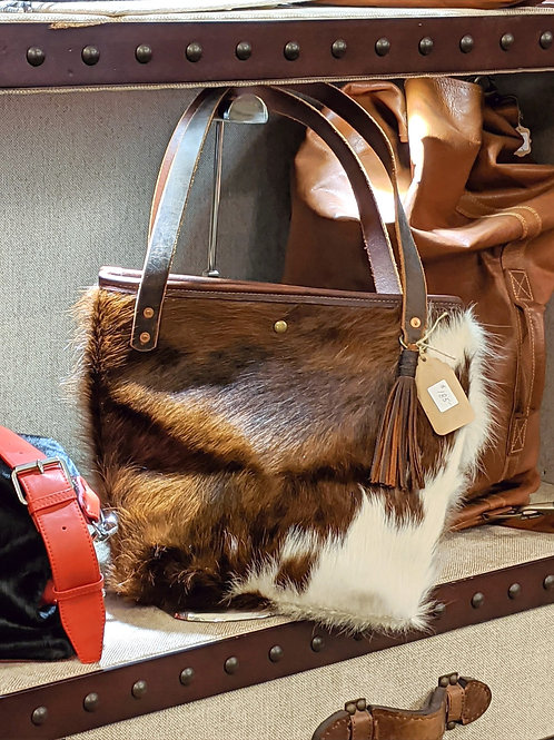 Hair on Hide Leather Tote by Chris Porter