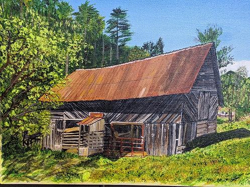 Original Barn Painting Artist Dalia Widis