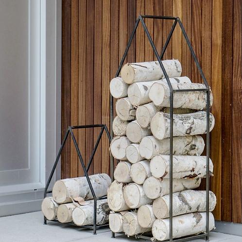 Iron House Firewood Holder