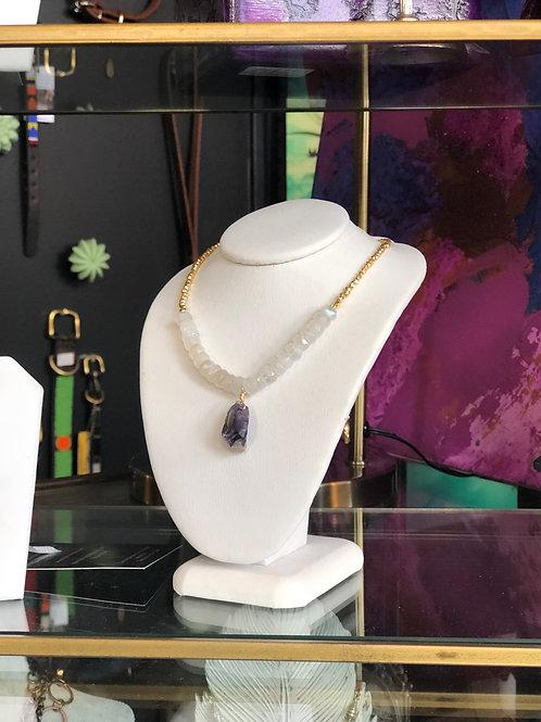 Sodalite and Quartz Necklace