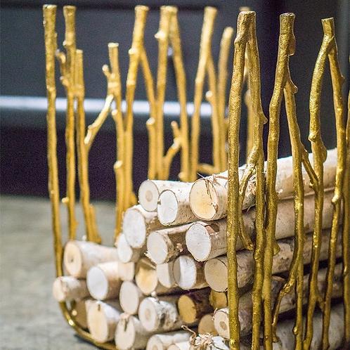Twig Stool/ Firewood Holder