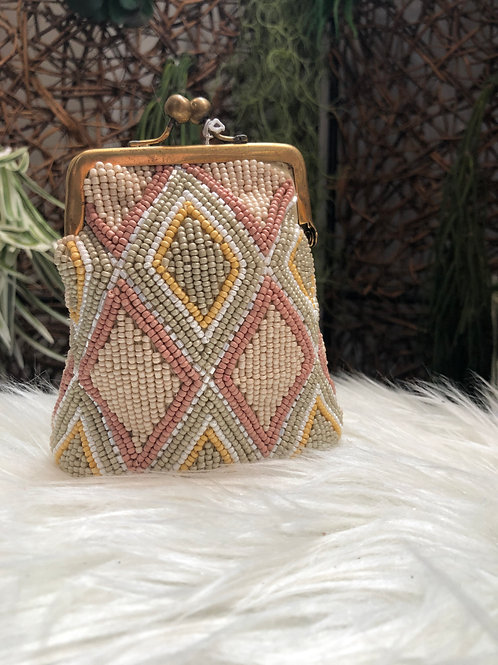 Large Beaded Coin Purse