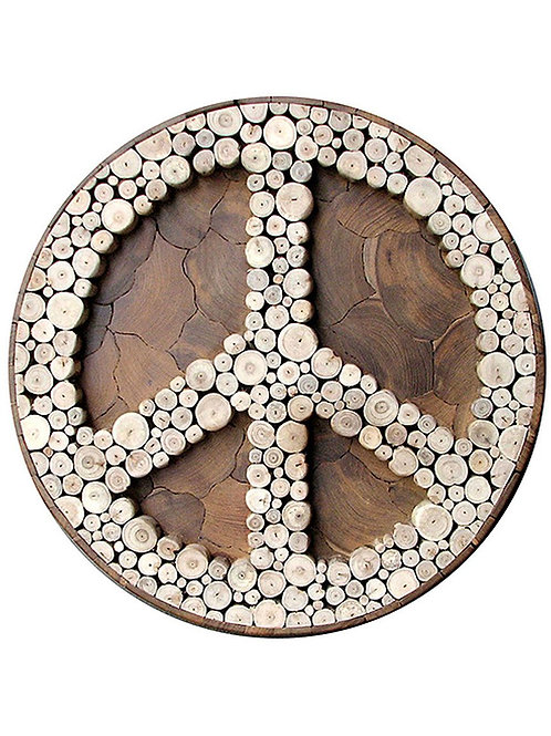 Eucalyptus/ Teak Peace Sign