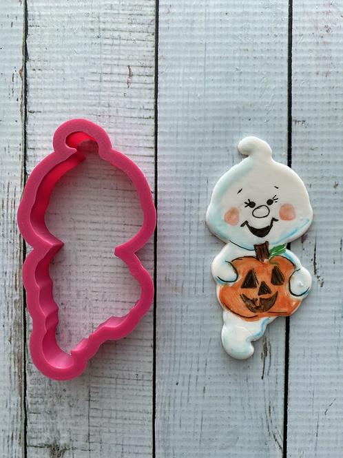Cute ghost with pumpkin