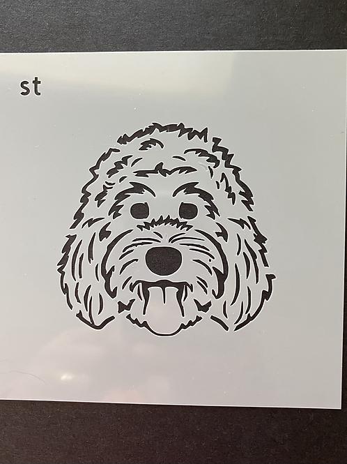 Marley & Monte stencil