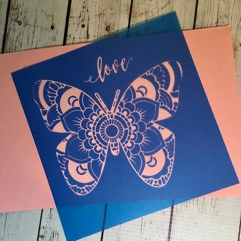 Butterfly silk screen stencil