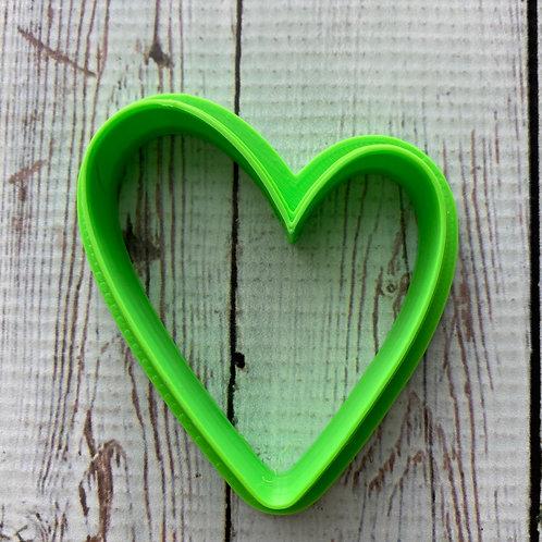 Wonky heart cutter