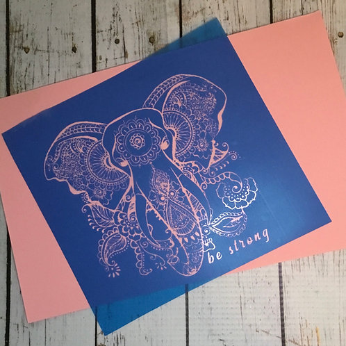 BeStrong Elephant stencil