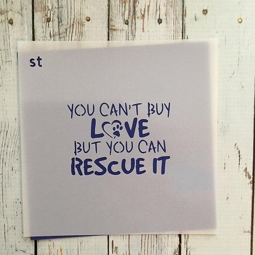 rescue love stencil