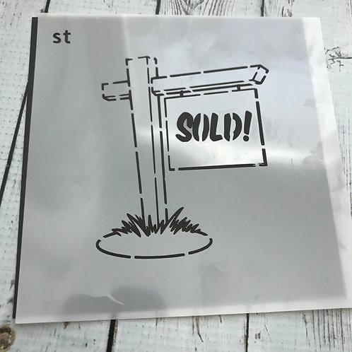 SOLD stencil