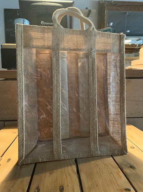 Hessian Gift Bag - For 3 Bottles