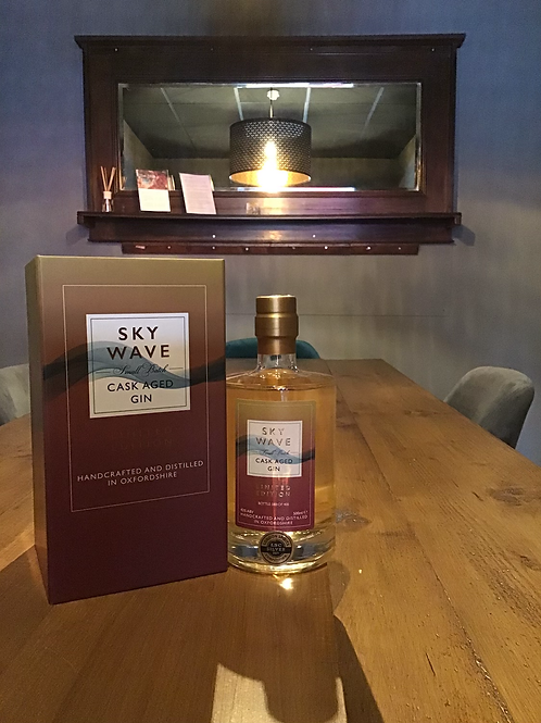 Cask aged gin. Limited addition. Oxfordshire. 42%vol 500ml