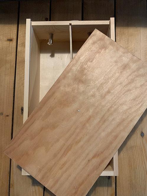 Wooden Gift Box & Lid - For 2 Bottles