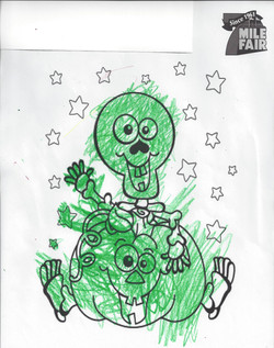 2nd place Coloring Contest Arley Age 2-5
