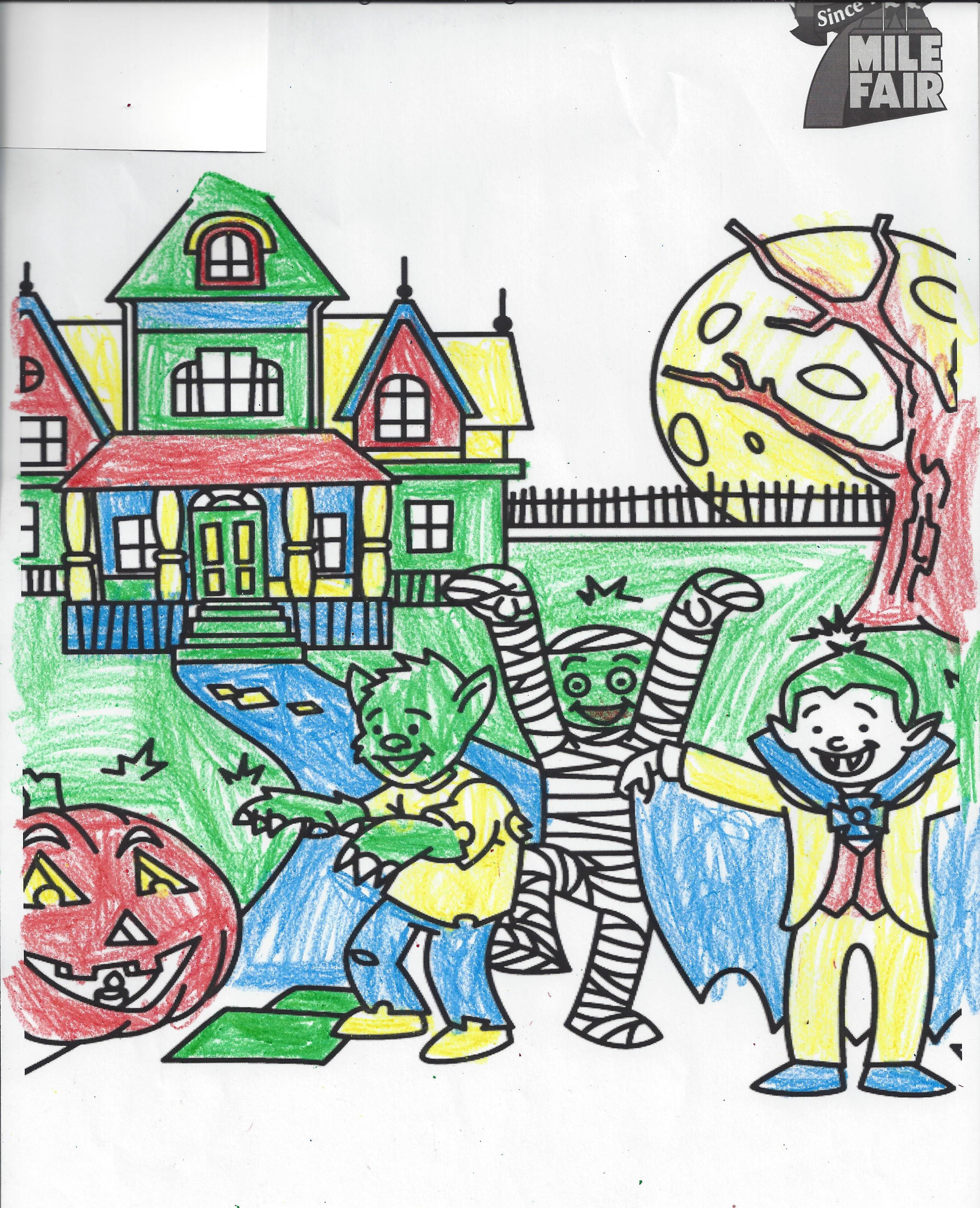 1st place Coloring Contest Cristal Age 6-9
