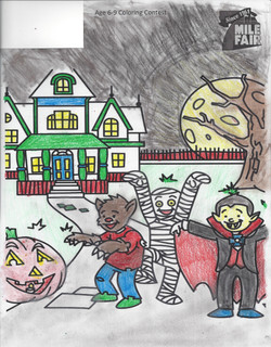 2nd place Coloring Contest Yuritzi Age 6-9