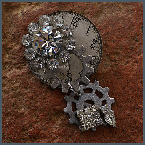 Watch face and costume jewelry brooch