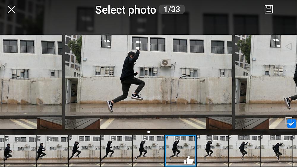 צילום רצף עם הסמארטפון