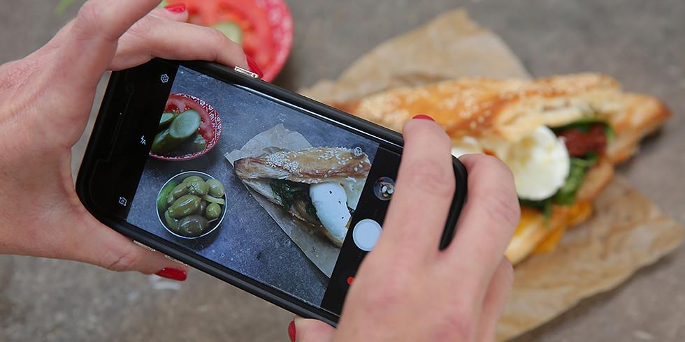 סדנת צילום אוכל בסמארטפון