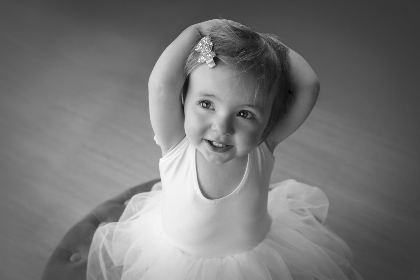 cute girl in ballerina dress