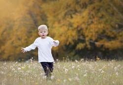 toddler portrait outdoor autumn