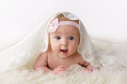 baby girl tummy time