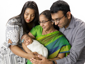 Newborn photographs with a touch of Indian culture!