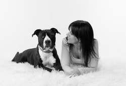 pet photography including owner
