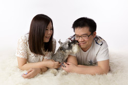 couple with beloved dog